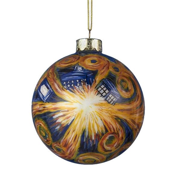 Kurt Adler 100MM Starry Night Paint Glass Ball Ornament