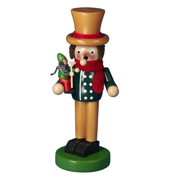 Kurt Adler Steinbach Wooden Christmas Carol Bob Cratchit and Tiny Tim Smoker Nutcracker