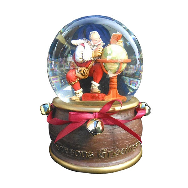 Kurt Adler 100MM Musical Seasons Greetings Waterglobe