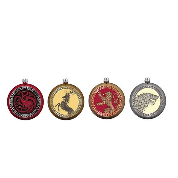 Kurt Adler 80mm Game of Thrones Disc Ornament (Set of 4)