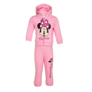 Disney Minnie Mouse Girl's 2-piece Pink Jumpsuit
