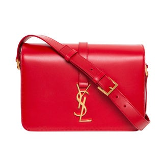 Saint Laurent 'Universite' Red Monogrammed Shoulder Bag