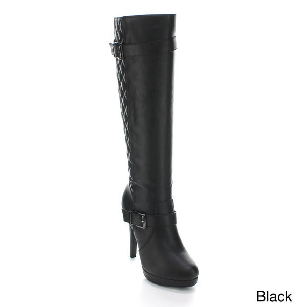Forever Women's 'Connie-98' Quilted Knee-high Boots