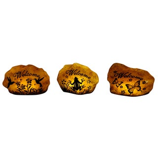 Solar Butterfly/ Frog/ Hummingbird Welcome Stones (Set of 9)