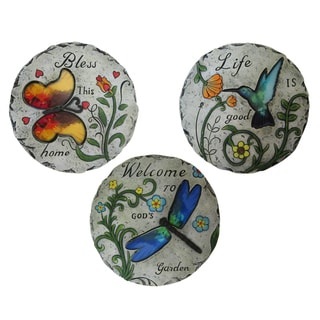 Inspirational Bird and Insect Stepping Stone (Set of 6)