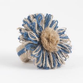 Flower Design Jute Napkin Ring (set of 4)