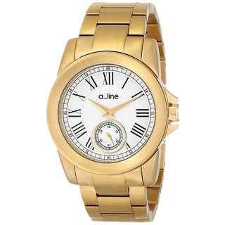 A Line Women's Amare Ion-plated Stainless Steel Silver Dial Watch