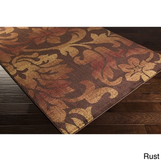 Artfully Crafted Lisa Floral Polypropylene Area Rug (5'3 x 7'3)