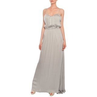 Escada Women's Silver Silk Chiffon Evening Gown