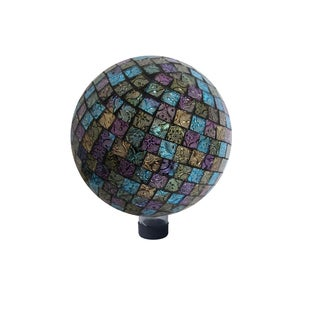 10-inch Purple/ Blue/ Yellow Mosaic Gazing Globe