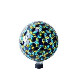 10-inch Blue/ Yellow Mosaic Gazing Ball