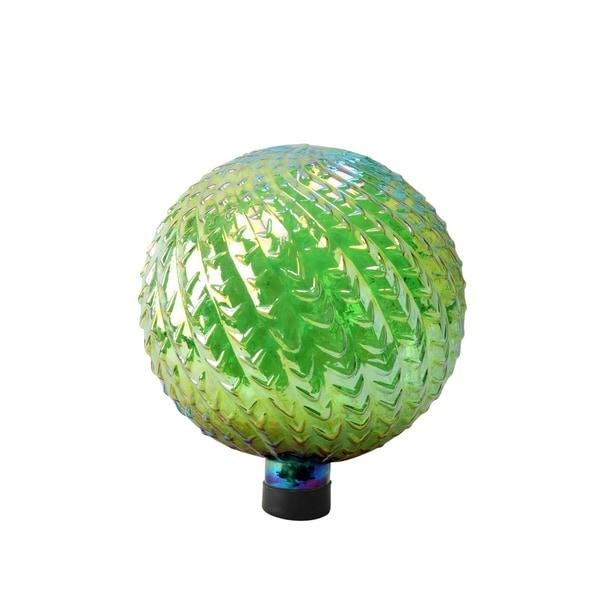 Arrow Texture 10-inch Green Glass Gazing Globe