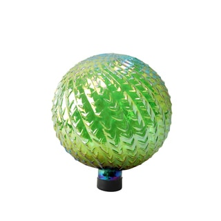 Arrow Texture 10-inch Green Glass Gazing Globe