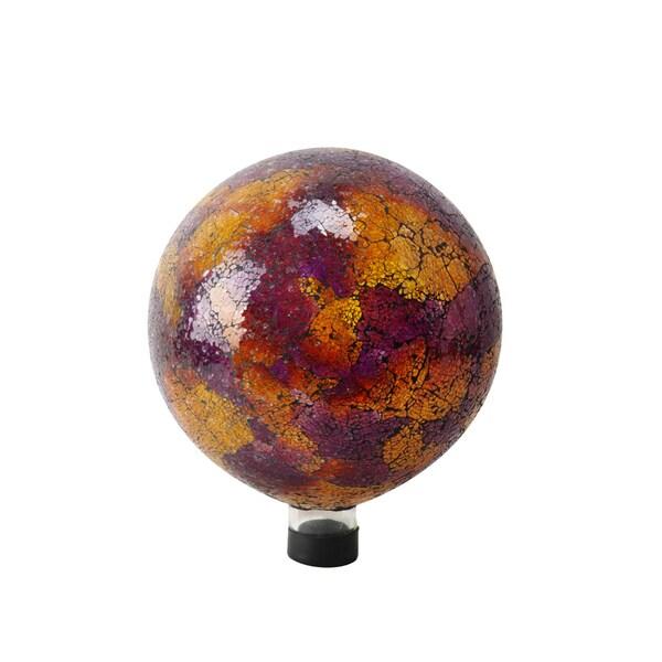 10-inch Pink/ Yellow/ Red Mosaic Gazing Globe