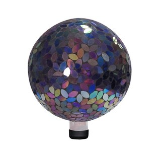 10-inch Purple Mosaic Gazing Ball