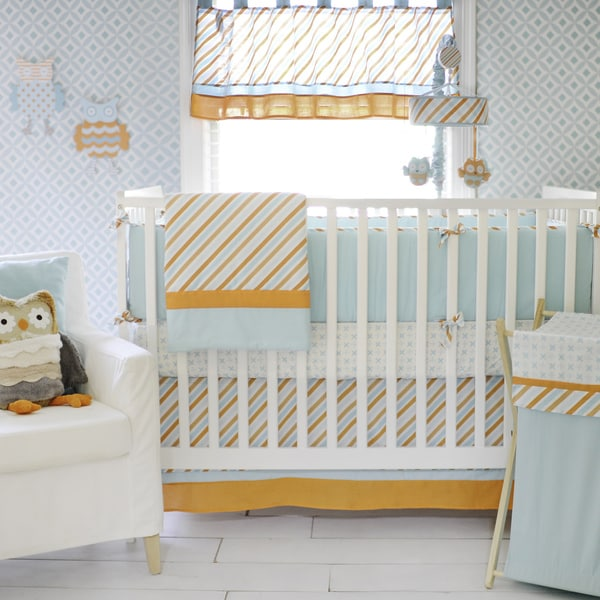 My Baby Sam Penny Lane Crib Bumper