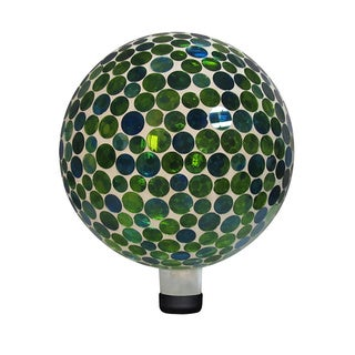 10-inch Green Mosaic Gazing Ball