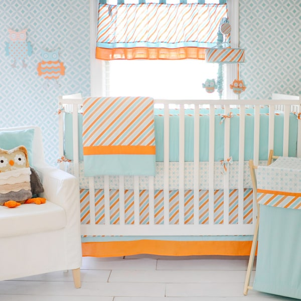 My Baby Sam Penny Lane 3-piece Crib Bedding Set