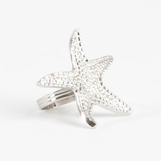 Star Fish Design Napkin Ring (set of 4)