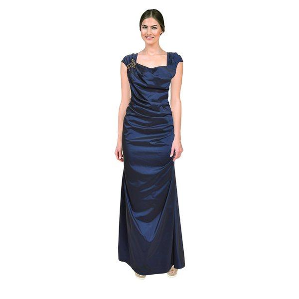 Tadashi Shoji Women's Midnight Blue Taffeta Gown