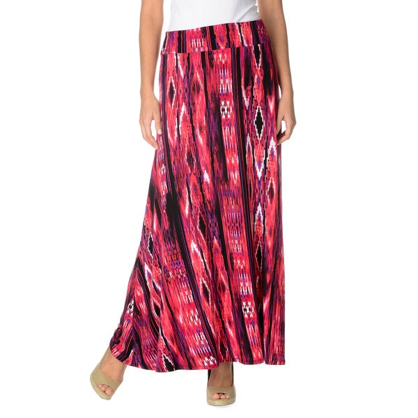 Chelsea & Theodore Women's Lisbon Print Full Length Skirt