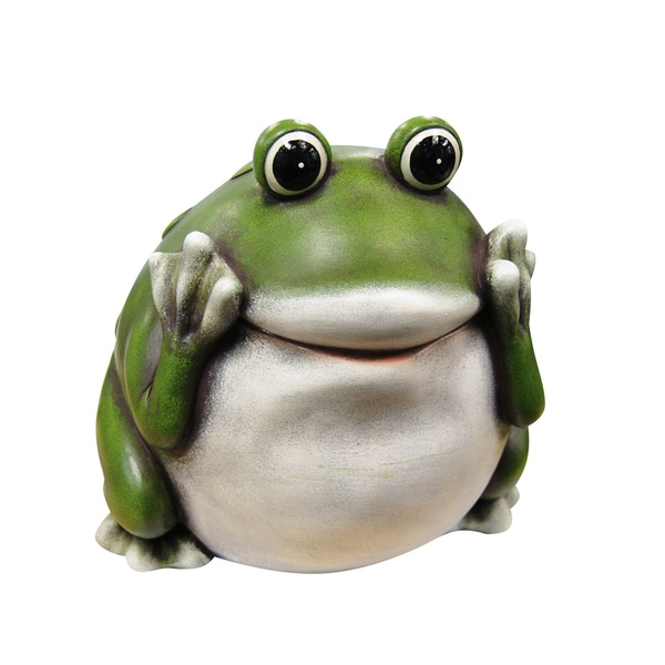 Peek-a-boo Frog Statue