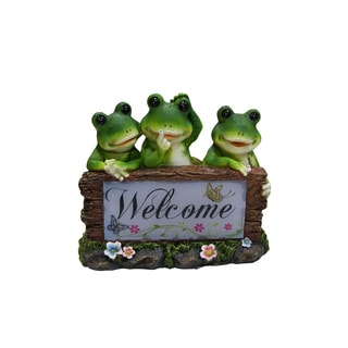 Solar Frogs Welcome Statue