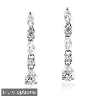 Icz Stonez Sterling Silver 2 4/5ct TGW Cubic Zirconia Dangle Earrings