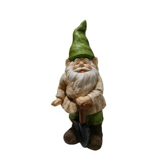 Gnome with Shovel Statue