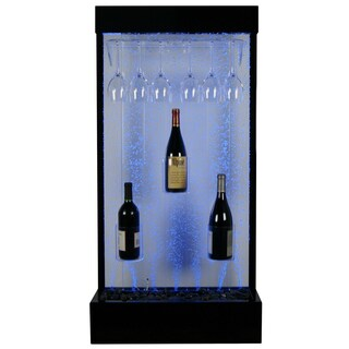 Water Bubble Fountain with LED Lights and Wine Rack with Remote