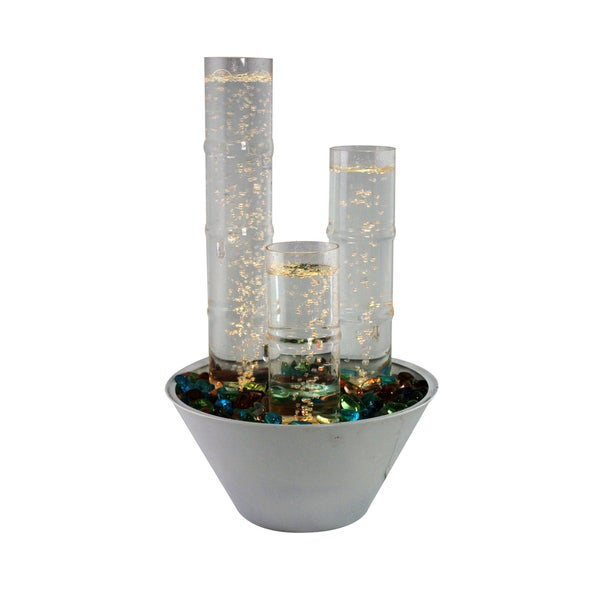 water bubble table top fountain with led lights and remote 16691620