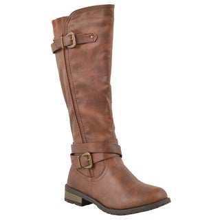 Forever Women's 'Mango-24' Side Zipper Knee-high Riding Boots