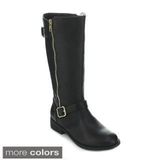 Forever Women's 'Elva-23' Quilt Stitching Knee-high Riding Boots