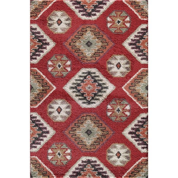 Somette Tacoma Hybrid Winona Red Area Rug (7'10 x 9'10)