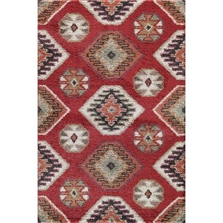 Christopher Knight Home Tacoma Hybrid Winona Red Area Rug (7'10 x 9'10)