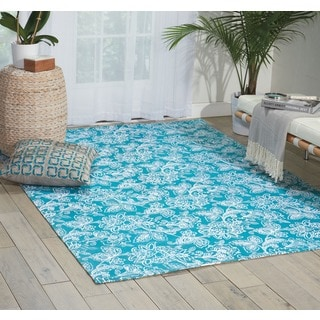 Waverly Art House by Nourison Teal Area Rug (5' x 7')