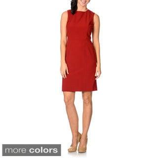 Tahari Womens Sleeveless Sheath Dress
