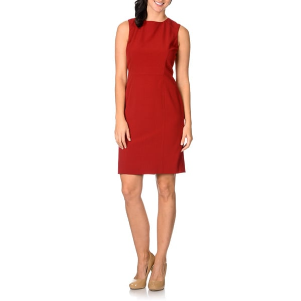 Tahari Womens Sleeveless Sheath Dress