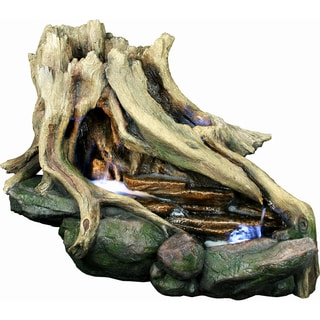 Yosemite Home Decor Free Standing Tree Stump Fountain