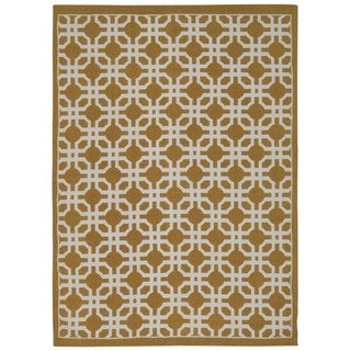 Waverly Art House by Nourison Gold Area Rug (5' x 7')