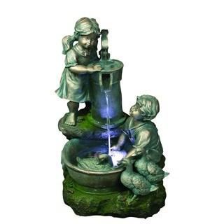 Yosemite Home Decor Polyresin Sculptural Fountain