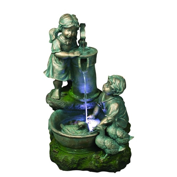 Polyresin Sculptural Fountain