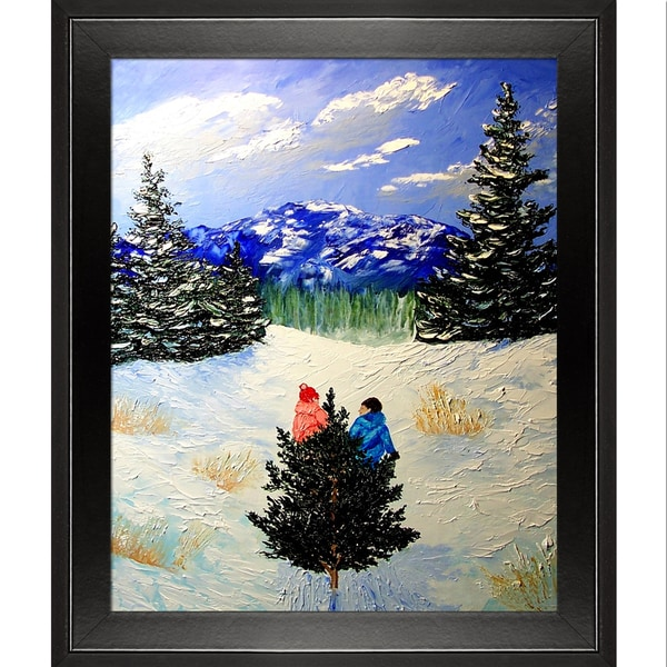 Peggy Miller 'Bringing Home the Tree' Framed Fine Art Print