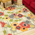 Nourison Waverly Art House Poppy Area Rug (5' x 7')