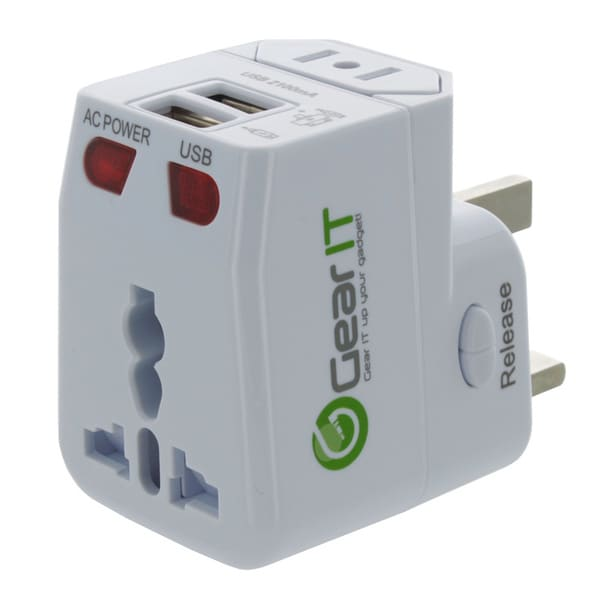 GearIt 2-USB Universal Travel Wall Charger Adapter