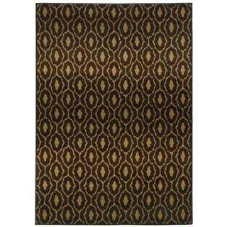Tribal Lattice Black/ Brown (5'3 x 7'6)