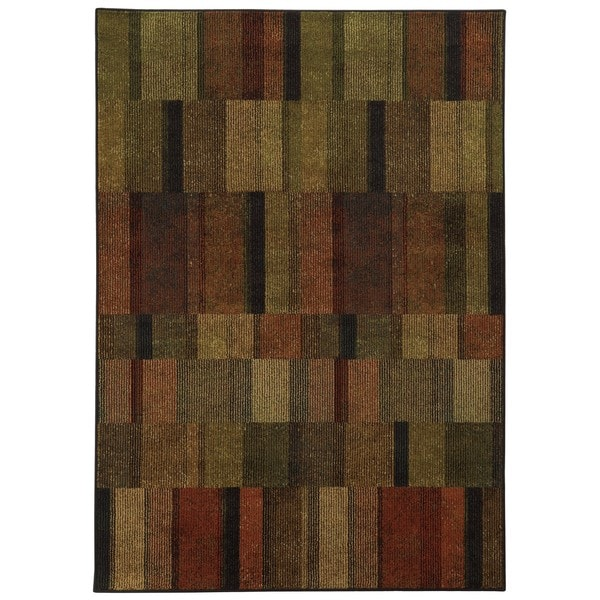 Geometric Brown/ Green (3'10 x 5'5)