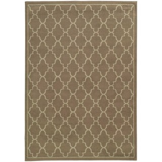 Lattice Brown/ Beige Rug (7'10 x 10')