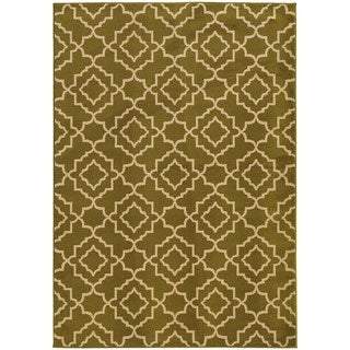 Lattice Orange/ Beige Rug (7'10 x 10')