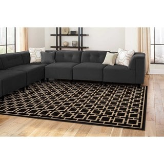 Geometric Square Lattice Rug (6'7 x 9'6)